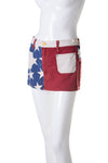American Flag Denim Skirt