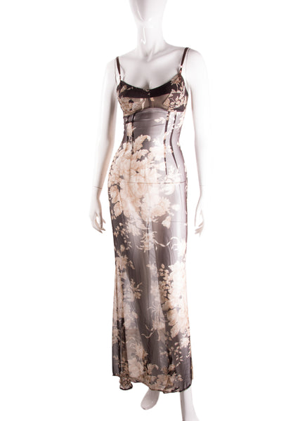 Dolce and GabbanaRare 1997 Sheer Floral Dress- irvrsbl