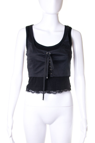 Dolce and GabbanaLace-up Tank- irvrsbl