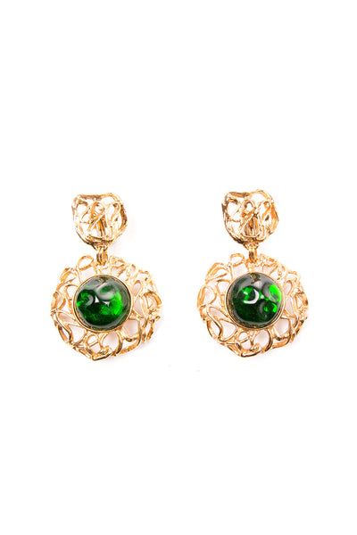 Yves Saint LaurentGlass Cabochon Clip On Earrings- irvrsbl