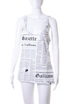 Newspaper Print Tank Top