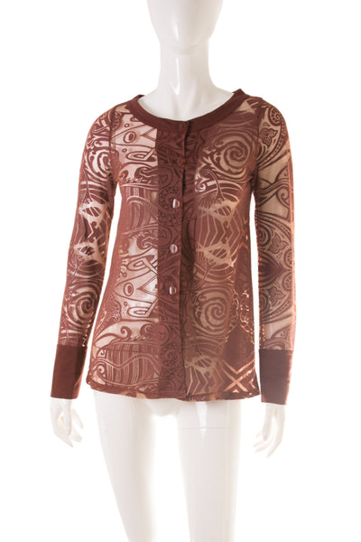 Jean Paul GaultierSheer Tribal Top- irvrsbl