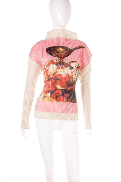 Issey MiyakePleats Please Fruit Print Top- irvrsbl