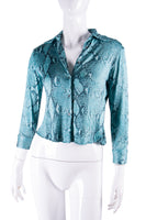 Tom Ford Python Printed Blouse