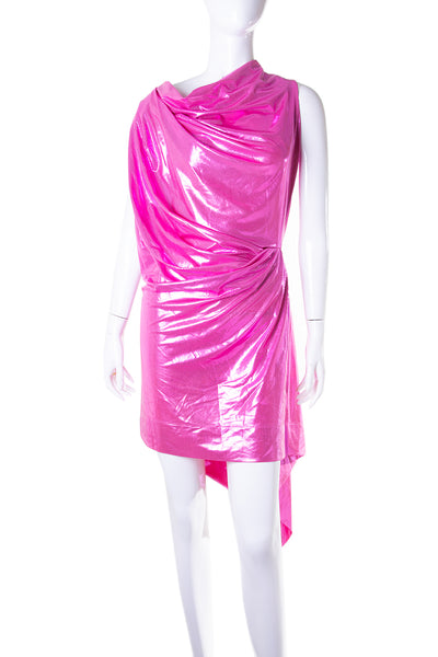 Vivienne WestwoodMetallic Draped Dress- irvrsbl