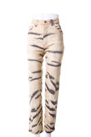 Animal Print Sequin Jeans