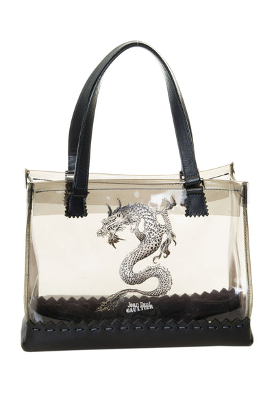 Clear Tote Bag with Dragon Motif