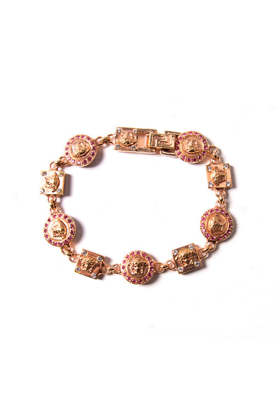 Rose Gold Medusa Head Bracelet
