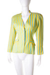 Thierry MuglerStriped Jacket- irvrsbl