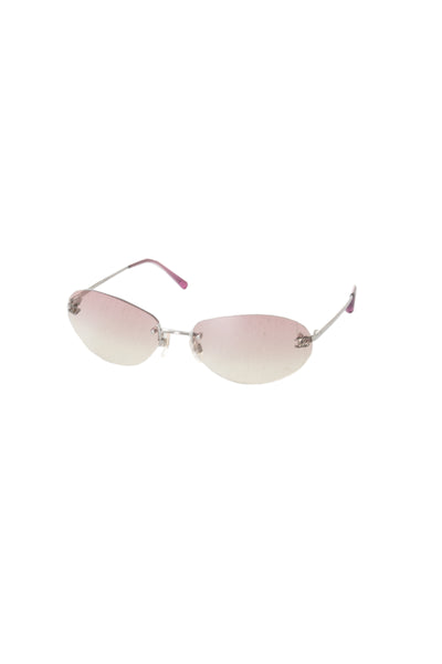 ChanelCC Frameless Sunglasses in Pink- irvrsbl