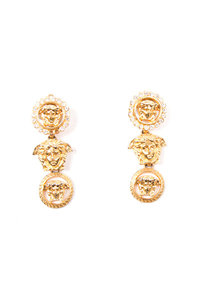 VersaceRhinestone Drop Earrings- irvrsbl