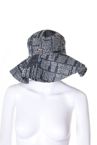 John GallianoGazette Print Hat- irvrsbl