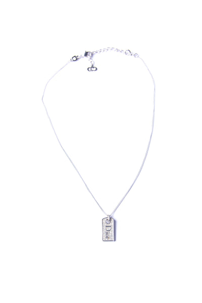 Christian DiorRhinetone Dog Tag Necklace- irvrsbl