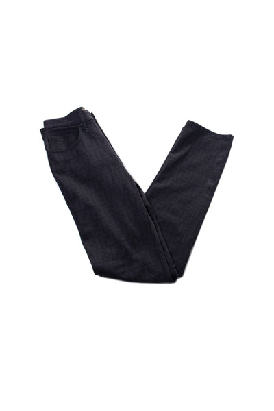 FendiZucca Black Stretch Pants- irvrsbl