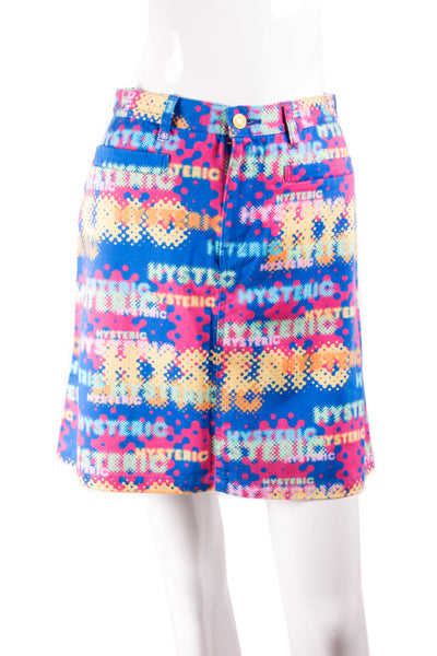 """Hysteric"" Printed Skirt"