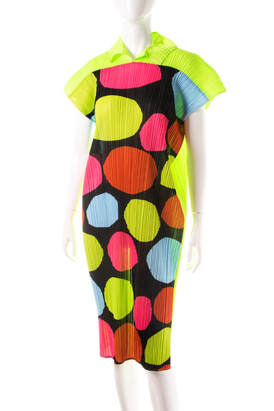Issey MiyakePleated Polkadot Dress- irvrsbl