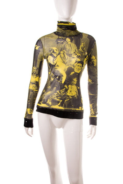 Jean Paul GaultierPrinted Turtleneck Top- irvrsbl