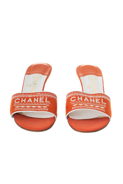 Logo Heels in Orange 39.5