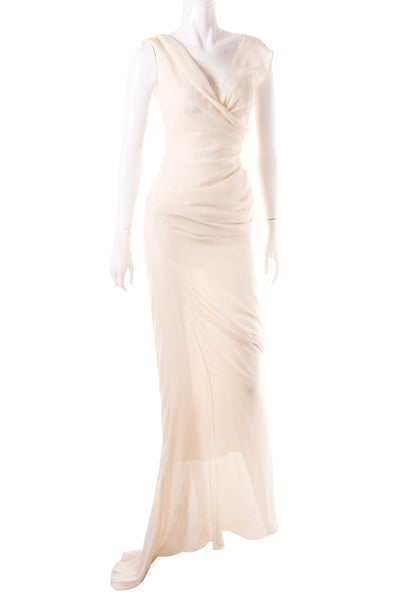 Sheer Draped Gown