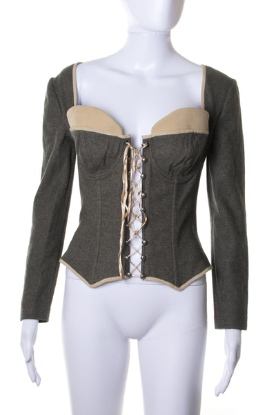 Dolce and Gabbana Long Sleeve Corset Top - irvrsbl