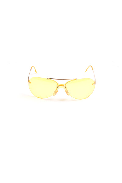 Christian DiorNeon Yellow Aviators- irvrsbl