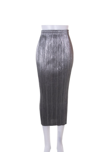 Issey MiyakePleats Please Silver Skirt- irvrsbl