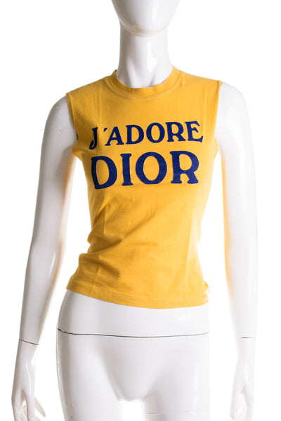 J'Adore Dior Top in Yellow