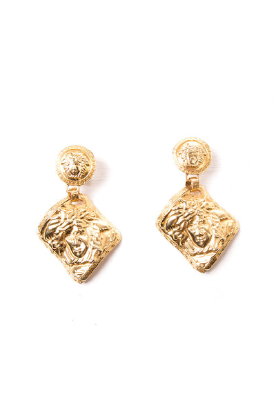 VersaceOversized Medusa Head Earrings- irvrsbl