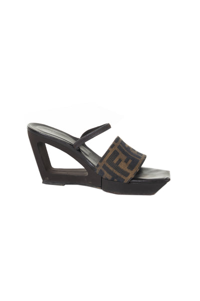 FendiCut Out Wedge Sandal- irvrsbl