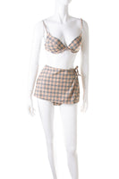 BurberryNova Check Bikini With Skirt- irvrsbl