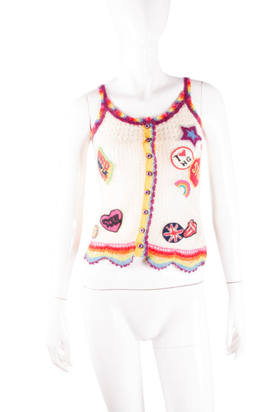 Crochet Top with Patches