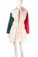 MoschinoTricolore Zip Up Parka- irvrsbl