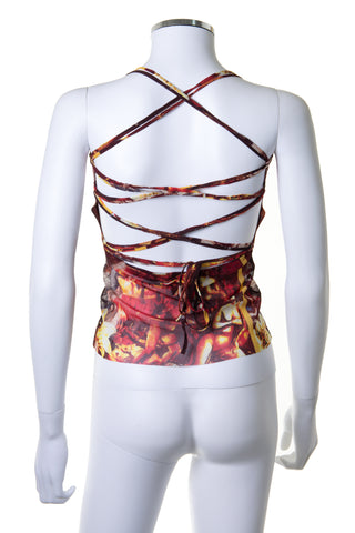 Mesh Top with Laceup Back