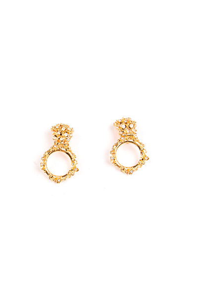 VersaceRhinestone Clip On Earrings- irvrsbl