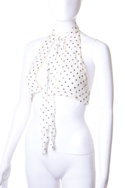 PradaPolka Dot Crop Top- irvrsbl