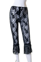 Dolce and GabbanaLace Fringed Pants- irvrsbl