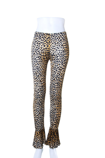Dolce and Gabbana Fluted Hem Leopard Pants - irvrsbl