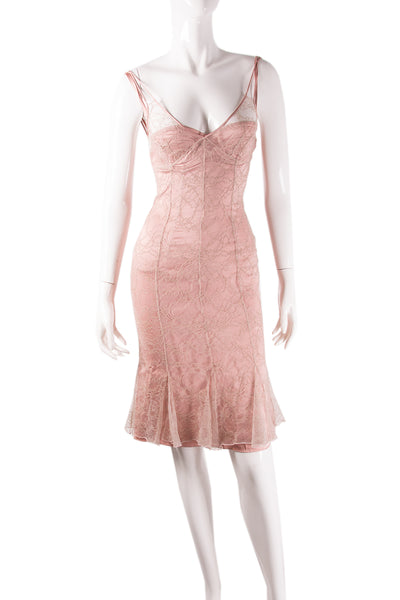 Dolce and GabbanaPink Lace Dress- irvrsbl