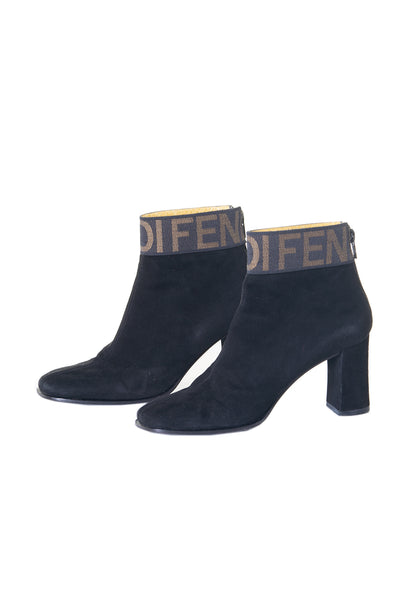 Suede Logo Boots