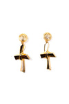 VersaceCrucifix Earrings- irvrsbl
