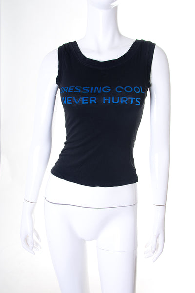 Dolce and Gabbana'Dressing Cool Never Hurts' Tank Top- irvrsbl