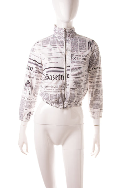 Newspaper Print Jacket