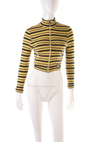 VersaceStriped Mock Turtleneck- irvrsbl