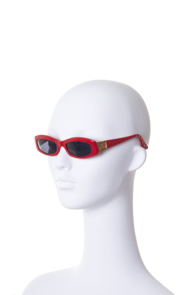 ChanelQuilted Red Sunglasses - irvrsbl