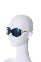 Oversized Logo Sunglasses