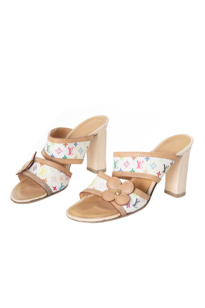Multicolore Monogram Heels 36