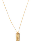 Christian Dior Gold Crystal Dog Tag Necklace - irvrsbl