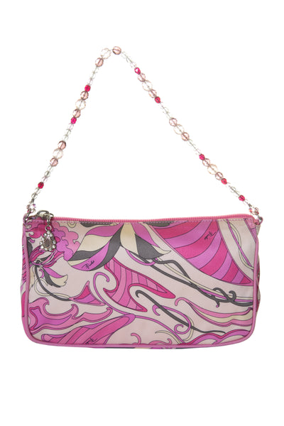 Satin Bag with Beaded Handle