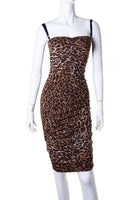 Dolce and GabbanaRuched Leopard Dress- irvrsbl