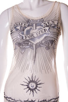 Jean Paul GaultierSafe Sex Forever Sheer Top- irvrsbl
